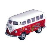 Bus Volkswagen Peace & Love En M�tal Rouge