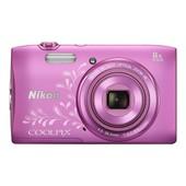 Nikon Coolpix S3600 Compact 20.1 Mpix Rose avec motif artistique