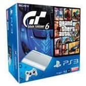 Sony Playstation 3 Ultra Slim Blanche 500 Go + Gta V + Gran Turismo 6 - Console Playstation 3 Ultra Slim 500 Go + Les Jeux Gta V Et Gran Turismo 6