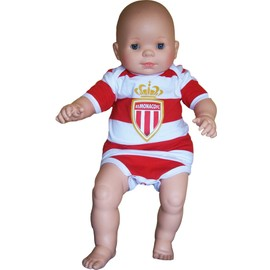 Body B�b� Monaco - Collection Officielle As Monaco - Ligue 1 - Blason Maillot Football Asm - Taille Bebe Gar�on