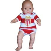 Body B�b� Monaco - Collection Officielle As Monaco - Ligue 1 - Blason Maillot Football Asm - Taille Bebe Gar�on