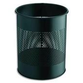 Durable Corbeille � Papier M�tal Ajour�e 15 Litres Noir Diam 31,5 X H 26 Cm