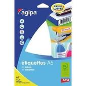 Agipa Etiquettes - �tiquettes Adh�sives Permanentes - Blanc - Diam�tre 30 Mm 384 �tiquette(S) ( 16 Feuille(S) X 24 )