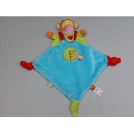 Doudou Peluche Tigrou Disney Baby Nicotoy Plat Bleu Orange Rouge Rond Vert