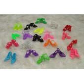 Lot 19 Paires De Chaussures Pour Barbie - Soient 38 Chaussures