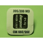 1 Pile 395/399 Sr927sw/Sr927w Energizer 1,55 Pile Bouton Pour Montre 0% Mercure