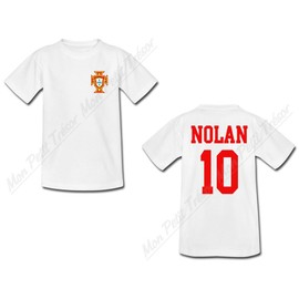 T-Shirt Adulte Personnalis� - Coupe Du Monde De Football 2014 - Maillot Portugal - Tee Shirt S-M-L-Xl