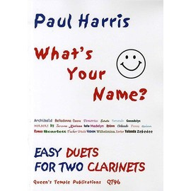 what's your name - easy duets for two clarinets