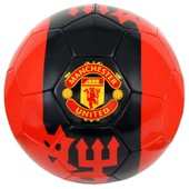 Ballon De Football Manchester - Collection Officielle Manchester United - Red Devils - Blason Maillot - Taille 5
