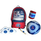 Ballon Psg + Sac � Dos + Brassard Capitaine + Plots + Pompe - Collection Officielle Paris Saint Germain - Blason Maillot - Enfant Gar�on