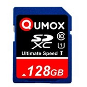QUMOX SD XC 128 Go SDXC Class 10 UHS-I Secure Digital Carte M�moire HighSpeed ​​Write Speed 60MB/s read speed upto 80MB/s