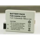 Batterie pour Canon LP-E8 LPE8 Digital Rebel T2i EOS 550D 600D 650D 700D T4i