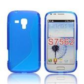 Coque Arri�re En Gel Silicone Bleu Pour Samsung Galaxy Trend S7560