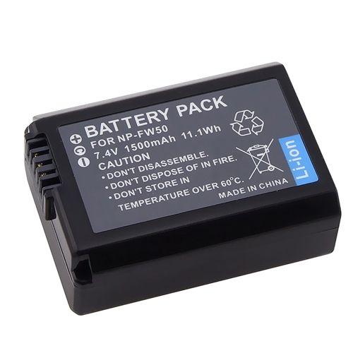 2 NP-FW50 Rechargeable batterie pack pour sony NEX-5 NEX-3 NEX3 NEX5 Camera