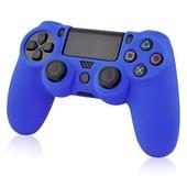 Insten� Housse Coque �tui De Protection En Silicone Souple Pour Manette Pad Joystick Dual Shock Sony Playstation 4 Ps4, Bleu