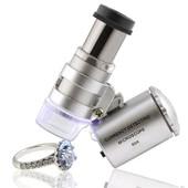 Insten� Loupe Microscope De Poche Lumineuse Led Agrandissement X60 Pour Bijoux, Monnaies, Pierre Precieuse, Diamant, Or, Bijoutier