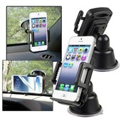 Insten� Kit Support Ventouse Universel 360� Degr�s Rotatif Holder Fixation Pare-Brise Voiture Pour Smartphone T�l�phone Portable Iphone 5/5s/6/6s Samsung Galaxy S3/S4/S6 Edge, Largeur : 4,6 - 9cm