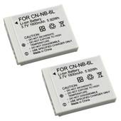 Lot de 2 batterie NB-6L Li-Ion pour Canon IXY Digital 25 110 IS