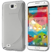 Coque S-Line Silicone Gel Samsung Galaxy Note 2 - Housse Etui Vague Transparent