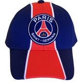 Casquette Psg - Collection Officielle Paris Saint Germain - Blason Maillot - Football Ligue 1 - Taille R�glable