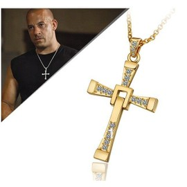Collier + Pendentif Croix Or Fast And Furious Dominic Toretto