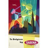 Affiche Belgique Belgium Sabena