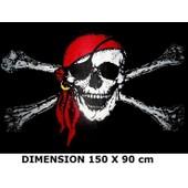 ****** Drapeau Pirate T�te De Mort 150x90cm Neuf !!!