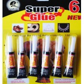 Set De 6 Tubes De Super Glue Colle Forte Multi Usage Bricolage