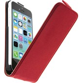 Housse Etui Clapet Cuir Apple Iphone 5c - Coque Protection Rouge