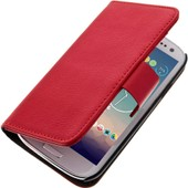 Etui Portefeuille Cuir Samsung Galaxy S3 - Housse Clapet Support Rouge