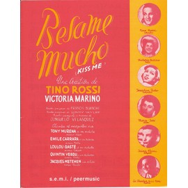 Besame mucho (kiss me) [Feuillets mobiles]