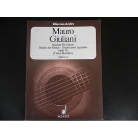 études pour la guitare opus 1b vol 2 GA 31
