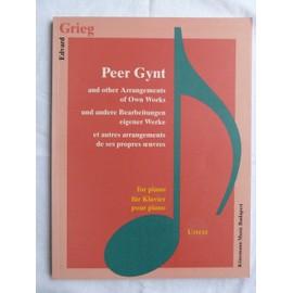 Edvard Grieg - Peer Gynt - et autres arrangements pour piano