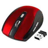 Insten� Souris Optique Wireless Sans Fil 2,4 Ghz Rouge/Noir R�cepteur Usb Pour Ordinateur Pc Windows 8 / 7 / Vista / Xp / Mac Os