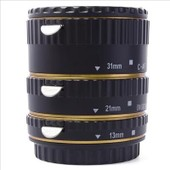 Metal Auto focus AF Macro Extension Tube Set for Canon EOS EF EF-S Gold DC468