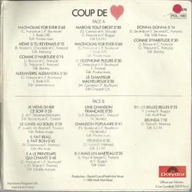 claude for ever - les plus grands succès de Claude François : medley (part 1) 5'14  /  medley (part 2) 5'56
