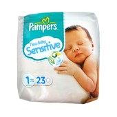 Pampers New Baby Sensitive New Born Taille 1 - 23 Couches
