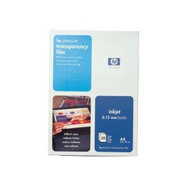 Hp - Transparents - A4 (210 X 297 Mm) 50 Unit�s - Pour Officejet 4500, 6500, 6500 E709; Officejet Pro 11xx, 8500, 8500 A909, K5400, L7480