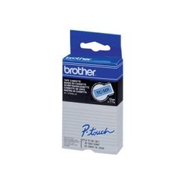 Brother - Noir, Bleu - Rouleau (1,2 Cm X 7,7 M) 1 Unit�s Bande Imprimante - Pour P-Touch Pt-15, Pt-20, Pt-2000, Pt-3000, Pt-500, Pt-5000, Pt-6, Pt-8, Pt-8e