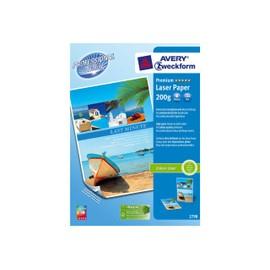 Avery Zweckform Premium Colour Laser Paper 2798 - Papier Glac� Double Face - Blanc - A4 (210 X 297 Mm) - 200 G/M2 - 100 Feuille(S)
