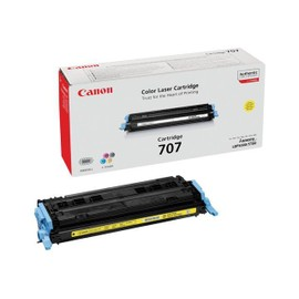 Canon 707y - Jaune - Original - Cartouche De Toner - Pour I-Sensys Lbp5000, Lbp5100; Laser Shot Lbp-5000, 5100