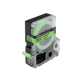 Epson Lc-5gbf9 - Bande Fluorescente - Noir Sur Vert - Rouleau (1,8 Cm X 9 M) 1 Rouleau(X) - Pour Labelworks Lw-1000p, Lw-400, Lw-400l, Lw-400vp, Lw-600p, Lw-700, Lw-900p