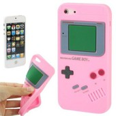 Coque Silicone Gameboy Rose Clair Pour Iphone 5 / 5s