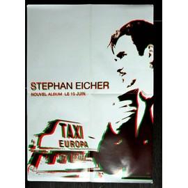 STEPHAN EICHER TAXI EUROPA POSTER BON DE PRECO FORMAT 60X40 TRES RARE BON ETAT LIVRE PLIE