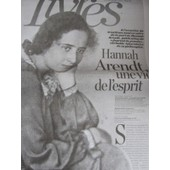 Liberation Suppl�ment Livres Du 08/09/05 : H. Arendt, Journal / Laure Adler, Arendt