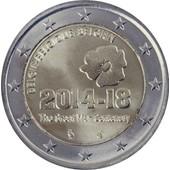 Euro - Pi�ce 2 Euros Comm�morative - 2014 - Belgique - 100 �me Anniversaire Du D�but De La Premi�re Guerre Mondiale