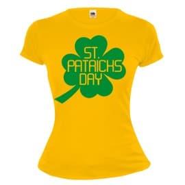 Girlie T-Shirt St Patricks Day-Sunflower-Green