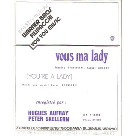 partition HUGUES AUFRAY vous ma lady PETER SKELLERN