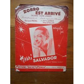 PARTITION PAROLES ZORRO EST ARRIVé HENRI SALVADOR