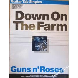 Guns n'Roses - Down on the farm. Guitar Tab Singles